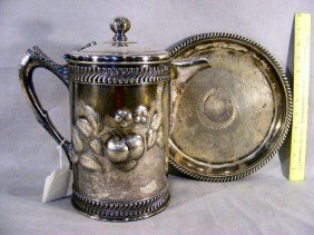 Victorian Silver-plated Ice Water Pitcher & Under