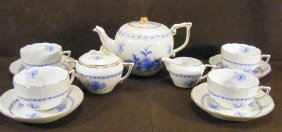 Royal Danube #1886 Tea Set, With Four Cups & Sauce