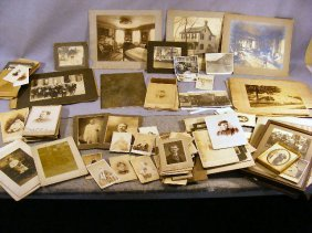 Large Lot Of Mostly 19th Century Photographs, Port