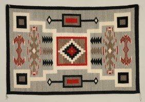 Navajo Granado Rug With Storm Pattern Ca. 1940's  4