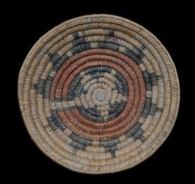 "Navajo Basketry Wedding Tray 11"" D.  Good Condition"