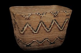 "Thompson River Burden Basket 16"" L. 10 1/2"" W. 10 1"