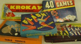 Box Of 6 Games Including Flash Bowling Game, Flag St