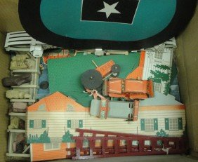 Lot Lincoln Log Parts, Building Block Toys, Cardboar