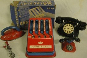 Lot Of Misc. Toys Including Wolverine Adding Machine