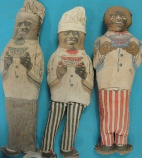 Three Cream Of Wheat Advertising Cloth Dolls - Ca.