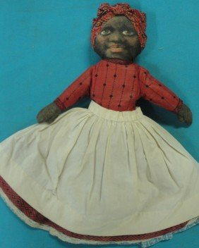 Topsy Turvy Black & White Cloth Doll In Original H