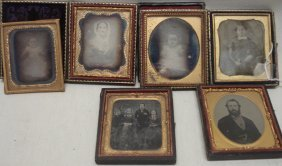 Six Cased Images Including 4 Daguerreotypes (2 Of
