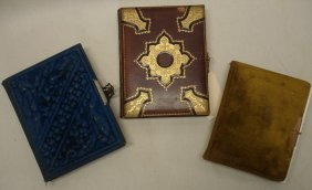 Three Victorian Photo Albums Containing Cabinet Ca
