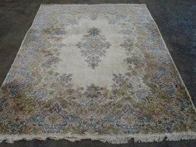 Large Room Size Estate Found Oriental Rug - All Ha