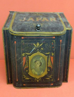 Japan Counter Top Coffee Tin, Original Paint And St
