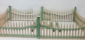Lot Of Wooden Christmas Tree Fencing With Wired Elec