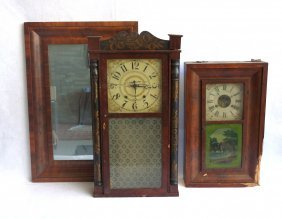 Two Sheraton/empire Shelf Clocks With Losses Plus An