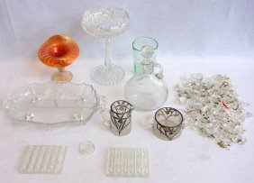 Grouping Of Decorative Glassware A Beautiful Cut Glass