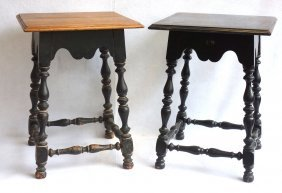 Two Matching Custom Made William & Mary Style Work