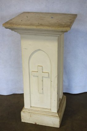 Church Architectural White Pedestal With Architectural