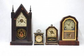 Seven Clocks: 4 Mantel Clocks Including An Ansonia 8