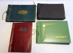 Grouping Of 4 Albums, Mostly Railroad Related. Includes
