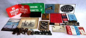 Grouping Of Railroad Items Mostly New York Central
