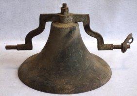 "Railroad Engine Bell - Cast Iron - 19th Century - 15""d"