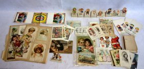 Grouping Of Post Cards, Trade Cards, Etc., Mostly Child