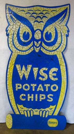Large Wise Potato Chip Roadside Sign In The Form Of An