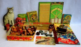 Grouping Of Toys Including Parker Bros. Ping Pong In