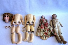 Grouping Of Doll And Doll Parts Including 2 German