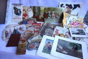 Grouping Of Miscellaneous Paper And Cloth Goods