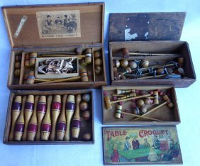 Grouping Of Mostly Victorian Parlor Games Including 3