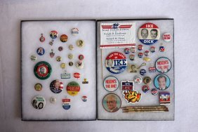 Grouping Of Mostly Political Pins & Pin-backs Including