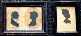 Two Framed Silhouettes Including A Double Cut Portrait