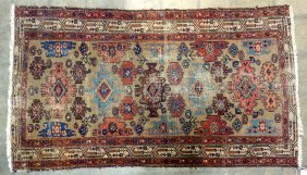 """Oriental Scatter Rug With Some Wear - 68"""" X 38""""."""