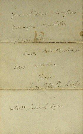 Reformer WENDELL PHILLIPS - Autograph Ltr Signed
