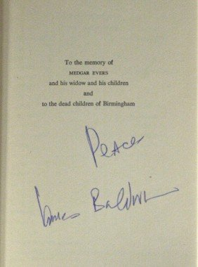 Author, Poet JAMES BALDWIN - His Play Signed