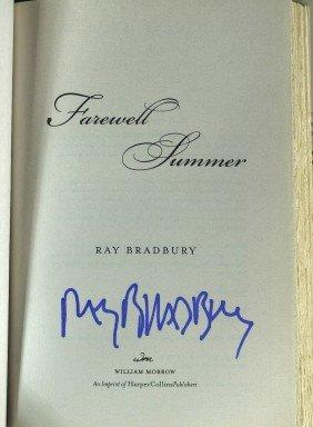 RAY BRADBURY -Book Farewell Summer Signed, 1st