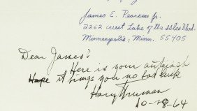 HARRY S TRUMAN - ANS On Autograph Request