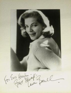 Mrs. Bogie LAUREN BACALL - Vintage Photo Signed