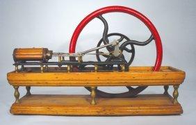 CA. 1860s BOX BED 2 HP HORIZONTAL STEAM ENGINE