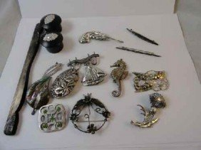 12210050U: 16 PC. JEWELRY LOT INC 9 PC. MARKED STERLING