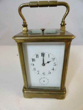 "12210092: 19TH C. FRENCH CARRIAGE CLOCK MARKED ""CJCC"" ("