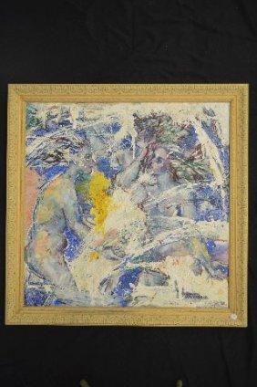 "Viktor Pogorelov Painting""three Female Figures"""
