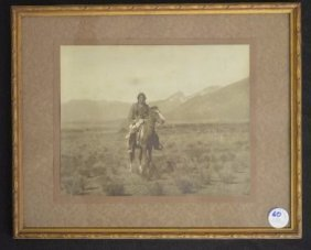 Vintage Fred Harvey Photograph Of Native American Circa