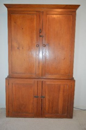 19th Century Pine Country Cupboard