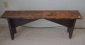 19th Century Bench With Bootjack Ends