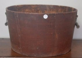Large Bale Handled 19th Century Composition Bucket