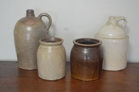 One Gallon Stoneware Jug With Other Misc. Stoneware
