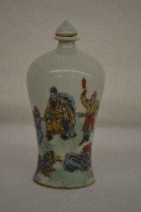 Chinese Snuff Bottle W/ Assassination 3 1/2'