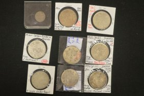 8 Antique Chinese Coins