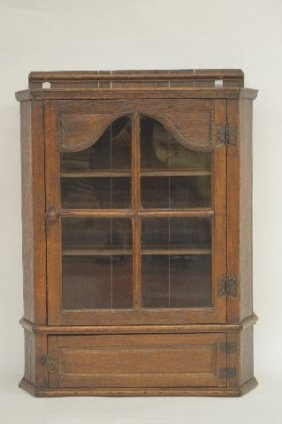 19th Century French Hanging Two Door Small Cupboard